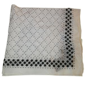 RAG & BONE White & Black Dots SIlk Square Scarf